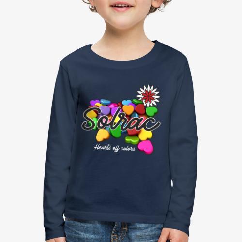 SOLRAC Hearts black - Camiseta de manga larga premium niño