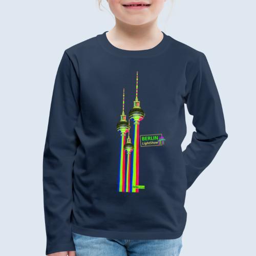 "Berliner Original ""Fernsehturm III"" PopArt Design - Kinder Premium Langarmshirt"
