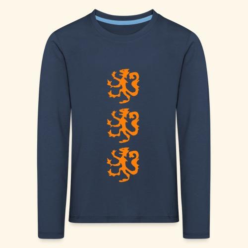 Heraldische leeuw - Kinderen Premium shirt met lange mouwen