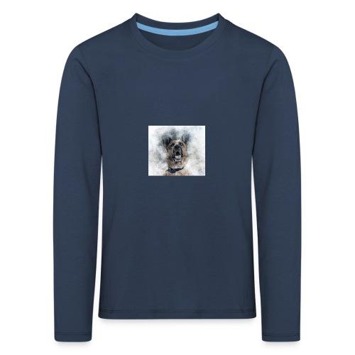 dog hund - Kinder Premium Langarmshirt