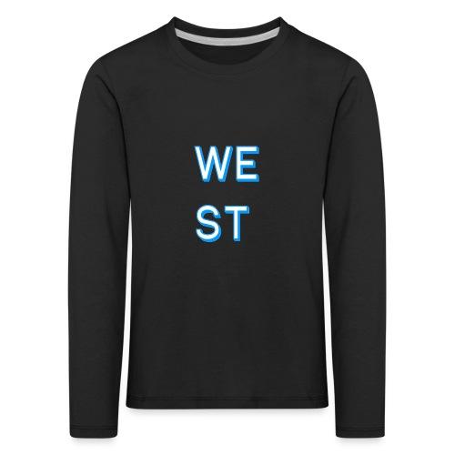 WEST LOGO - Maglietta Premium a manica lunga per bambini
