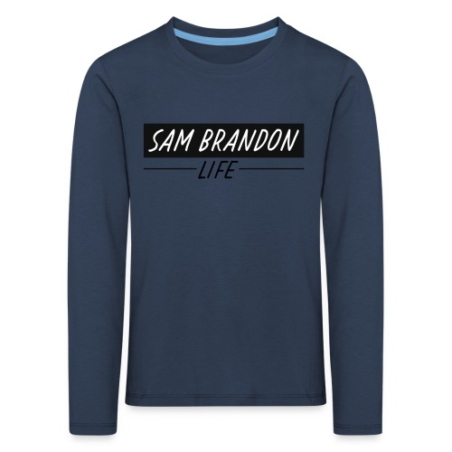 SamBrandonMerchandise - SamBrandon Box Logo - Kids' Premium Longsleeve Shirt