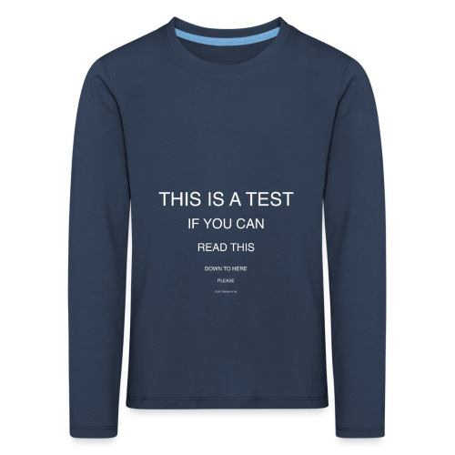 Can you see it? - T-shirt manches longues Premium Enfant