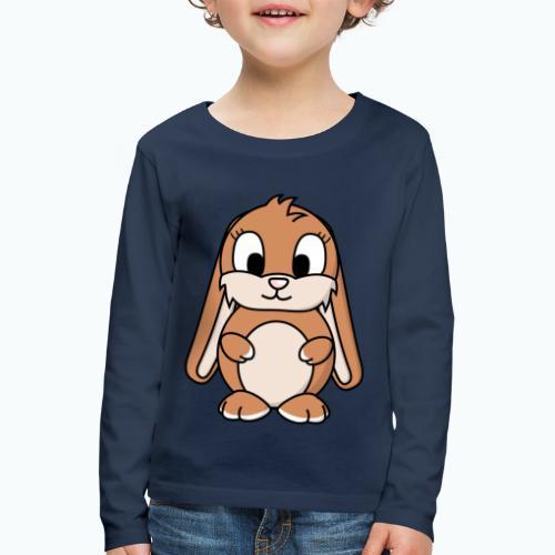 Lily Bunny - Appelsin - Långärmad premium-T-shirt barn