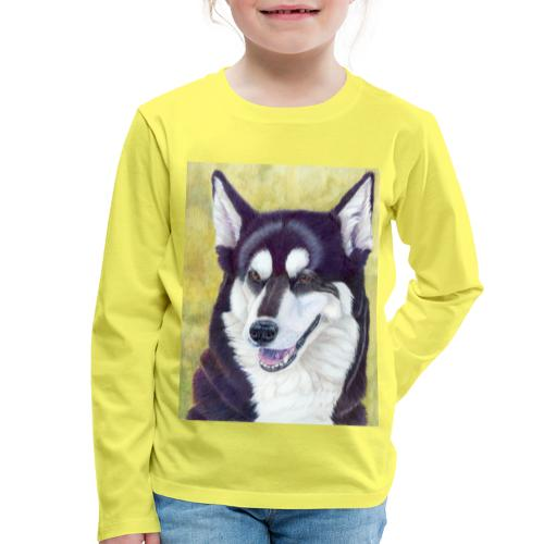 Siberian husky - Børne premium T-shirt med lange ærmer