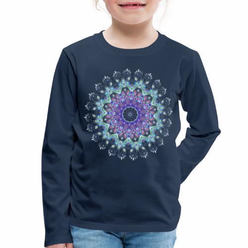 Lilla mandala pastel - Børne premium T-shirt med lange ærmer