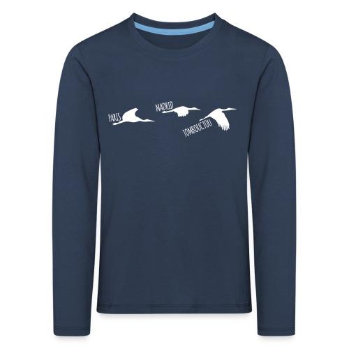 3 horizons oiseaux white - T-shirt manches longues Premium Enfant