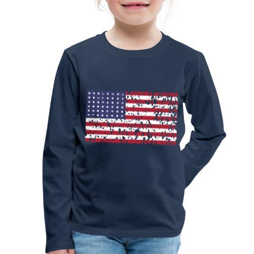 AVM WWII Trashed 48 star flag in color D'Day - Kinderen Premium shirt met lange mouwen