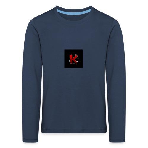 Logo - Børne premium T-shirt med lange ærmer