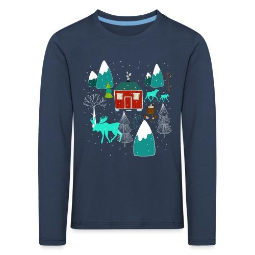 Weihnachten Elch I Geschenk Winterstimmung - Kinder Premium Langarmshirt