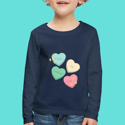 C'est ça l'amour, love - T-shirt manches longues Premium Enfant
