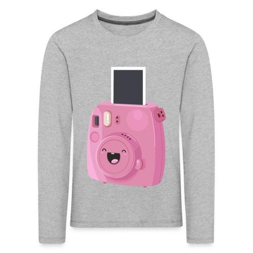 Appareil photo instantané rose - T-shirt manches longues Premium Enfant
