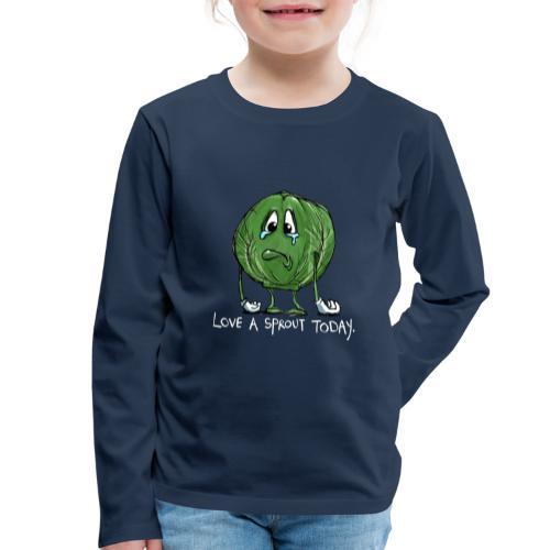 Funny vegetable Sad Sprout - Maglietta Premium a manica lunga per bambini