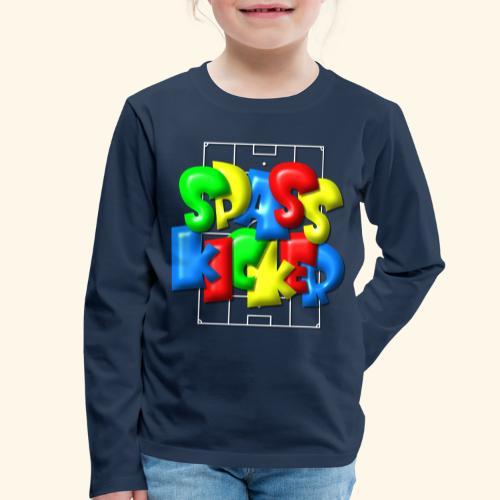 Spass Kicker im Fußballfeld - Balloon-Style - Kinder Premium Langarmshirt