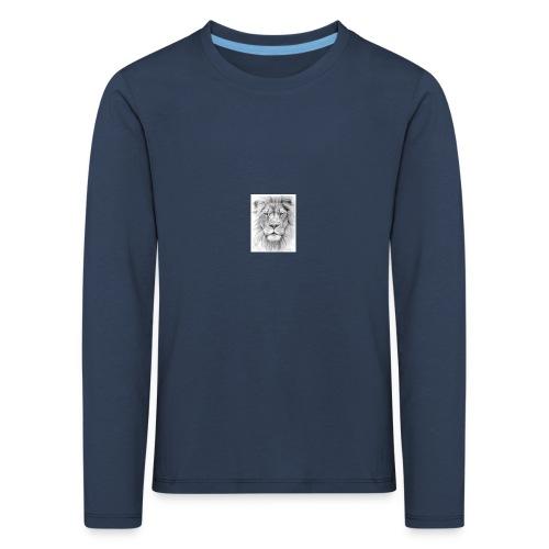 lion sketched png - Kids' Premium Longsleeve Shirt