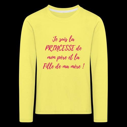 Fille et princesse - T-shirt manches longues Premium Enfant