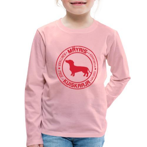 Mäyriskuiskaaja RED II - Lasten premium pitkähihainen t-paita