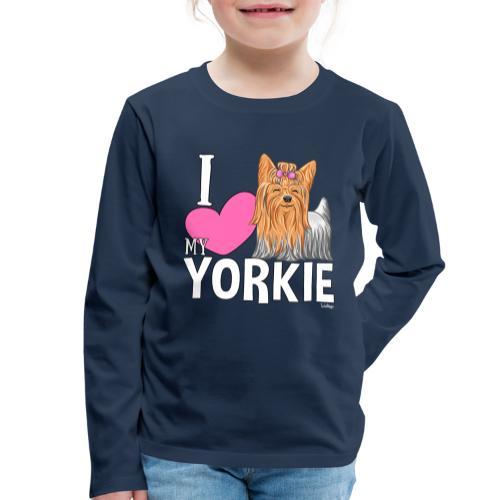 I love my Yorkie - Lasten premium pitkähihainen t-paita