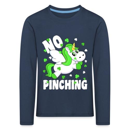 St. Patricks Day No Pinching Unicorn - Kinder Premium Langarmshirt
