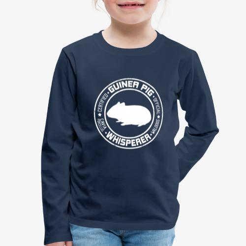 Marsewhisperer White - Lasten premium pitkähihainen t-paita