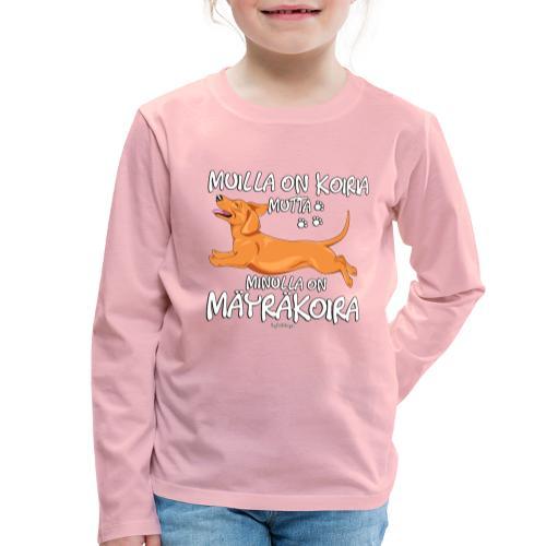 Mäyräkoira LK Koiria - Lasten premium pitkähihainen t-paita