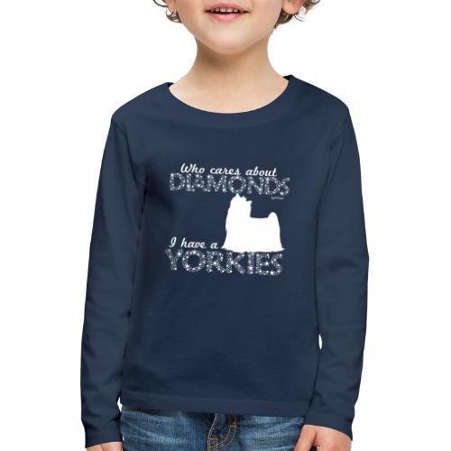 yorkiediamonds2 - Lasten premium pitkähihainen t-paita