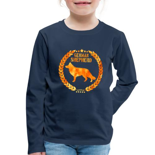 GSD Copper Army - Lasten premium pitkähihainen t-paita