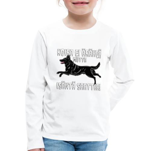 Saksanpaimen Isäntä - Lasten premium pitkähihainen t-paita