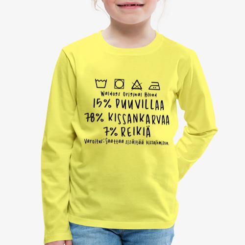 Kissan Omistajan Paita - Lasten premium pitkähihainen t-paita