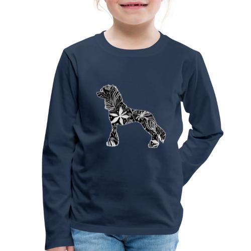 Flower Crested - Lasten premium pitkähihainen t-paita