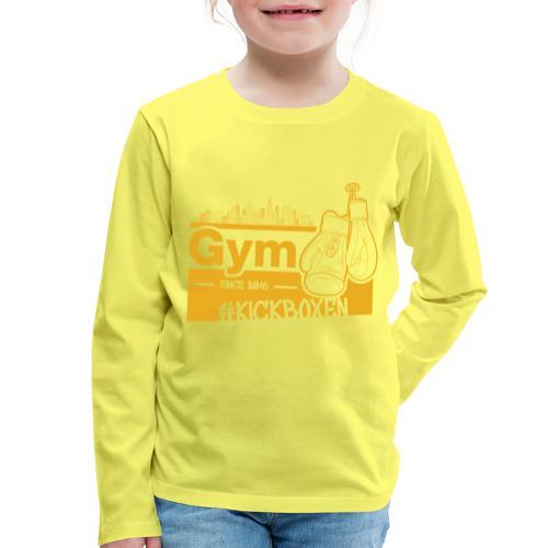 Gym Druckfarbe Orange - Kinder Premium Langarmshirt