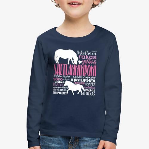 Sheltti Sanat Pink - Lasten premium pitkähihainen t-paita