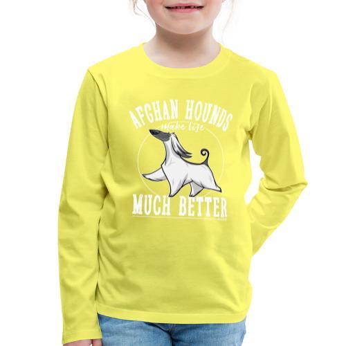 Afghans Better - Lasten premium pitkähihainen t-paita