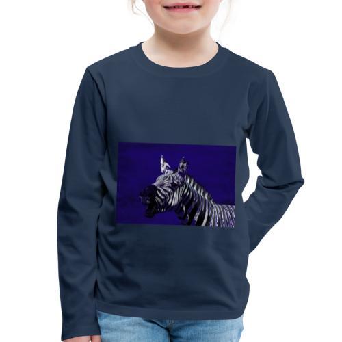 blue zebra - Kids' Premium Longsleeve Shirt