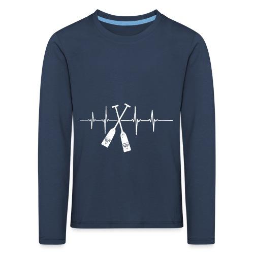 Drachenboot Paddel EKG Herzschlag - Kinder Premium Langarmshirt