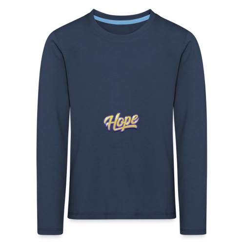 Hope lettering - Camiseta de manga larga premium niño