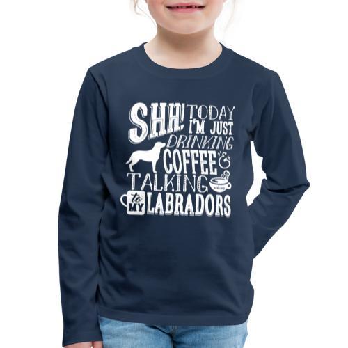 SHH Labrador Coffee 3 - Lasten premium pitkähihainen t-paita