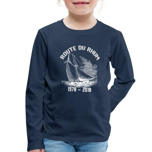 La Route du Rhum 1978-2018 - Blanc - T-shirt manches longues Premium Enfant