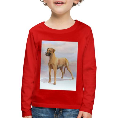 Great Dane Yellow - Børne premium T-shirt med lange ærmer