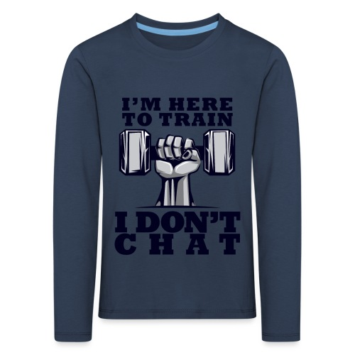 Train Chat - Lasten premium pitkähihainen t-paita