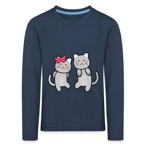 Kotki - Koszulka dziecięca Premium z długim rękawem
