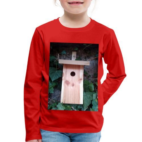 Der Nistkasten - Luxus für den Garten-Vogel - Kinder Premium Langarmshirt