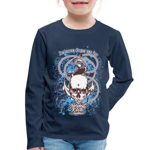 Skull Anker Design Art - Kinder Premium Langarmshirt