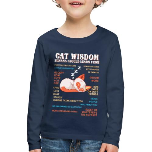 CAT WISDOM - T-shirt manches longues Premium Enfant