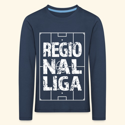 REGIONALLIGA im Fußballfeld - Kinder Premium Langarmshirt