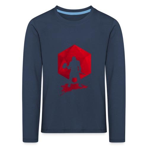 Brutal Barbarian - Dungeons and Dragons dnd d20 - Lasten premium pitkähihainen t-paita
