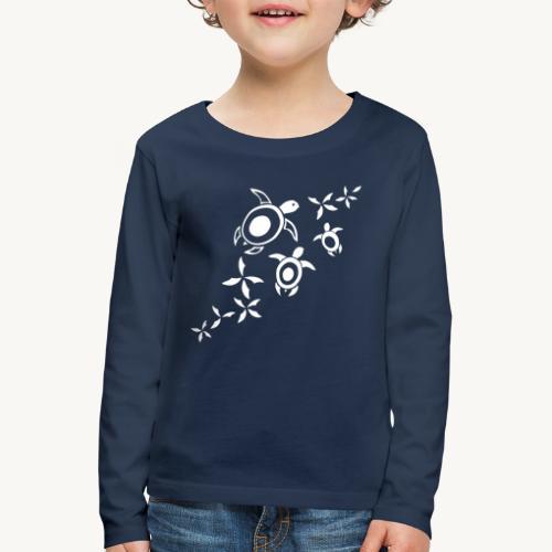 blumige Wasserschildis - Kinder Premium Langarmshirt