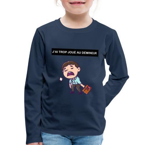 J'ai trop joué au démineur - T-shirt manches longues Premium Enfant