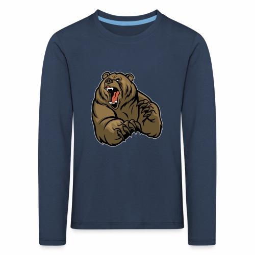 méchant grizzli - T-shirt manches longues Premium Enfant