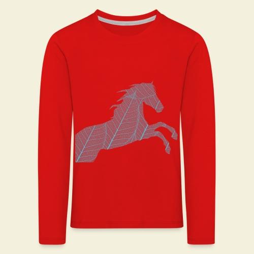 Cheval feuille - T-shirt manches longues Premium Enfant